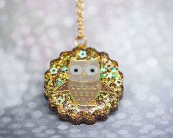 Fall Owl Necklace