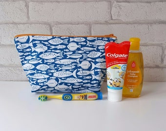 Fish Wash Bag / Toiletry Bag