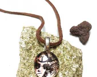Peace Dude -Glass Pendant Necklace
