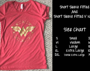 Wonder Woman,  women's racer back tank top, Short Sleeve fitted Tee, Slouchy Tee, Long Sleeve off Shoulder Tee or V Neck Short Sleeve.