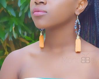 African fabric hoop earrings, ankara earrings, african textile earrings, bijoux africains, bijoux wax, boucles d'oreilles ethniques