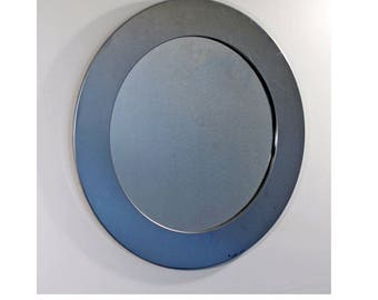 Vintage Mid Century Modern Curtis Jere Signed Hanging Wall Mirror Dated 1970 Mod
