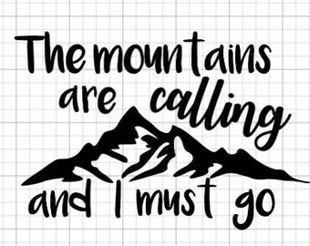 Mountains are calling vinyl decal