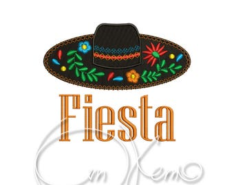 MACHINE EMBROIDERY DESIGN - Sombrero, Mexican design, Calavera, Dia de los muertos, Day of the dead