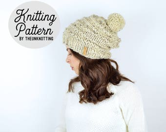 PATTERN // The Englewood Hat // Chunky Knit Beanie Pattern