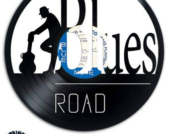 Blues Road - Art and Design on recycled vinyl record