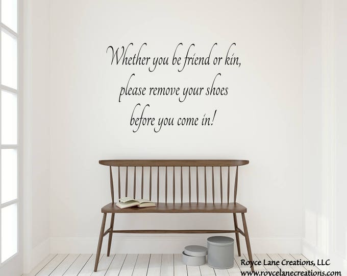 Remove Shoes Wall Decal #3