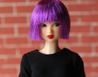 Violet Wig for J-doll, Momoko, Obitsu 3.5-4 inch