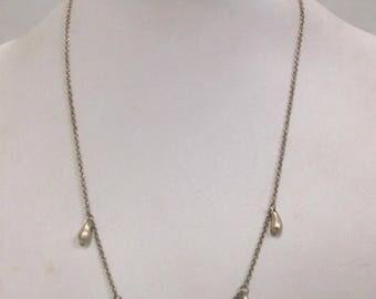 Tiffany & Co. Sterling Silver Elsa Peretti Teardrop Necklace