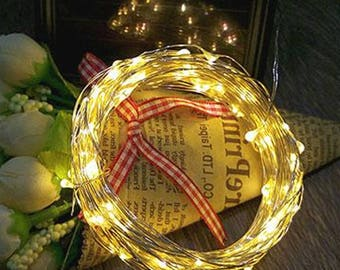 String Lights: Up to 49 ft & 300 Fairy Lights for Home Decor, Weddings. Aisle Runners, etc. Battery-powered, plug-in, or solar powered.