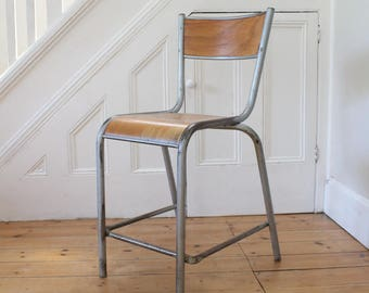 Vintage tall Mullca French stacking chair - 14 available