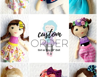 Custom Order, Custom Stuffed Animal, Custom doll, Dress up doll, christmas gifts for toddler, gift ideas for kids, baby gift, Birthday Gift