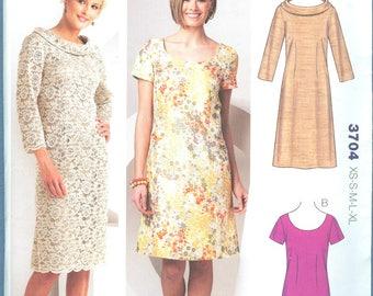 Boat neck dress long sewing pattern