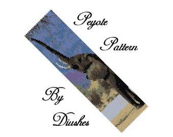 Beading pattern bracelet Elephant, peyote bracelet pattern, seed bead patterns, peyote stitch pattern, bead graph, animal patterns