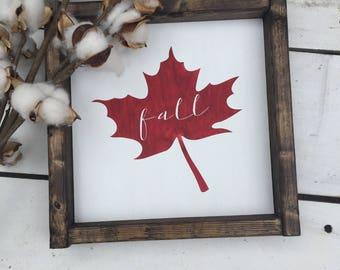 Fall Sign - Fall Decor -  Farmhouse sign - Gallery Wall - Home Decor - Farmhouse - Leaves