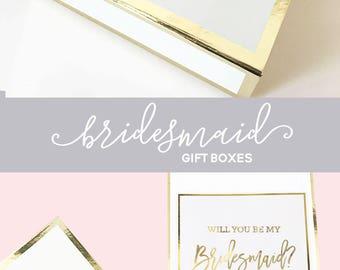 Bridesmaid Gift Box Monogrammed Bridesmaid Proposal Box Wedding Keepsake Box Monogram Bridesmaid Gift Ideas (EB3171M) MONOGRAMMED EMPTY BOX