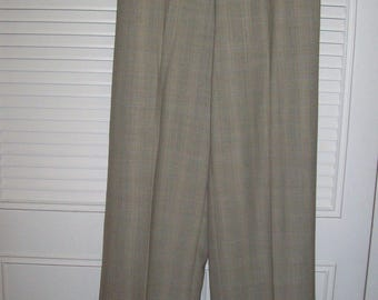 Pants 8, Ellen Tracy Career Pants, Shadow Plaid, Cuffed Elegant Pants, see details