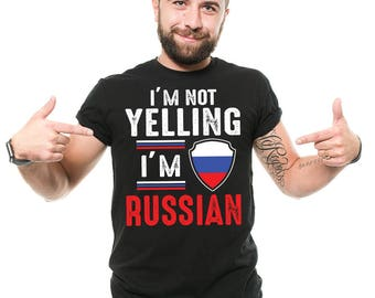 Russia T-Shirt Gift For Russian Funny Patriotic Russian Flag Nationality Tee Shirt