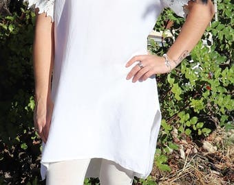 Women Tunic Tops For Leggings,Womens Tunic Dress,Linen Tunic,White Tunic ,Womens Tunic,Dresses For Women,Plus Size Tunic,Bohemian Tunic Tops
