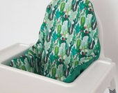 Antilop IKEA highchair cushion cover - cushion cover only - cactus succulent jade green highchair fabric cushion cover - MADE to ORDER