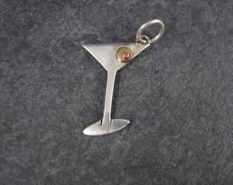 Vintage Sterling Martini Pendant Far Fetched