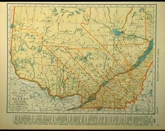 Quebec Map Etsy - Quebec map