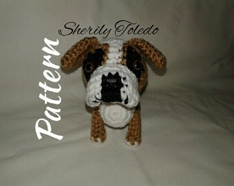 PATTERN - Old English Bulldog - Crochet Amigurumi Pattern