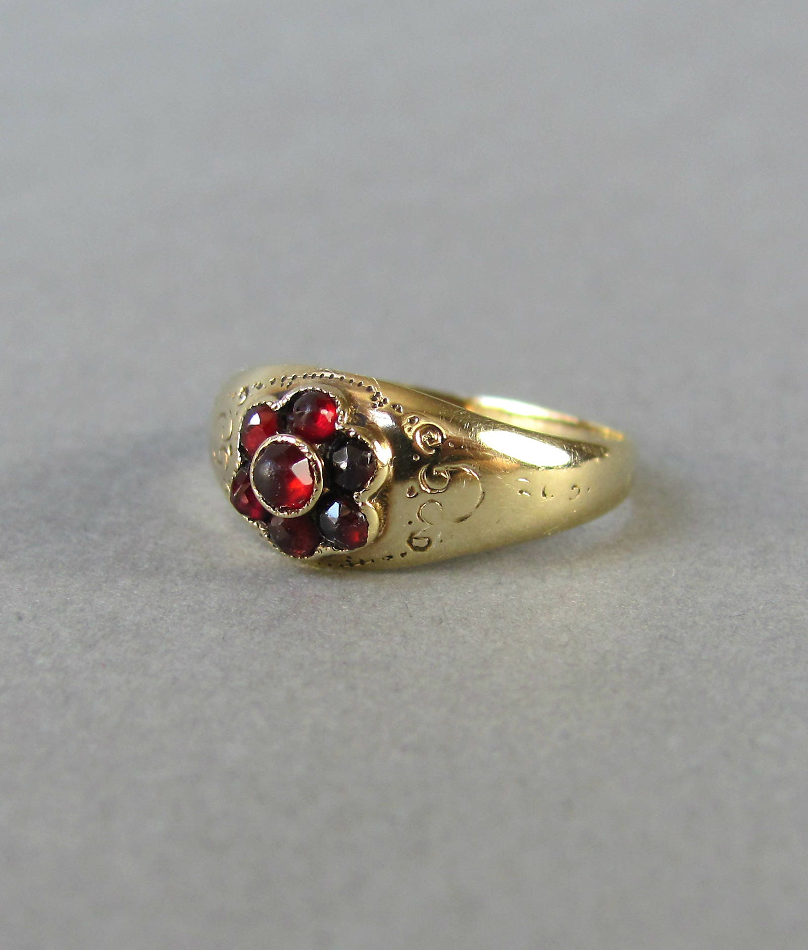 antique garnet engagement ring georgian to early
