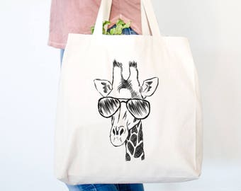 Geoffrey the Giraffe - Canvas Tote Bag