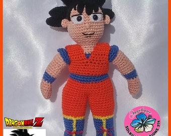 Sangoku, Dragon Ball Z, inspiré du personnage de dessin animé, fait main crochet
