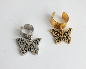 Butterfly Loc Jewelry Dreadlocs Hair Accessories Butterflies Dread Locs Hair Jewelry Loc Cuff Silver Gold Tone Fashion dreadlocks