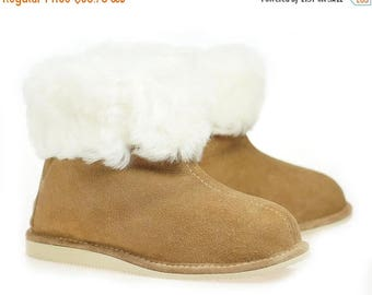 ON SALE Mens Sheepskin Shearling Slippers Moccasin Boots for Men House Sheepskin Slippers Handmade Shoes 100% Wool Slippers ugg style Best
