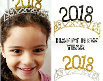 2018 Crown New Years Eve Crown, Happy New Year Party, New Year Eve 2018, New Year Eve Tiara, New Year Headband, New Year Photo shoot