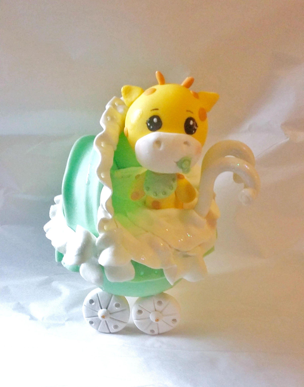 giraffe cake topper, carriage cake topper, baby giraffe cake topper ...