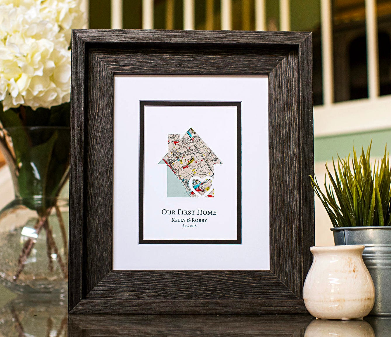 Personalised Home Is Where New Home Gift Print By: Our First Home New Home Housewarming Gift Personalized Map