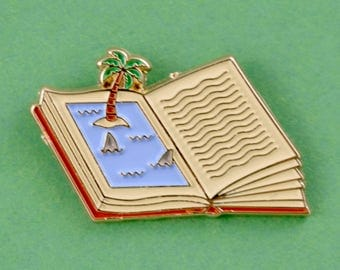 Shark Book Soft Enamel Pin // Cute Pin // Pins //  Enamel Pin // Gifts for her // Gift for Him // Gift ideas // Lapel Pin