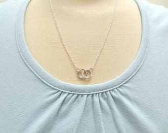 Silver Infinity Rings Necklace - Ready to Ship
