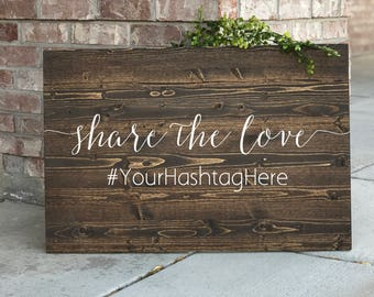 Share the Love Hashtag Sign,  wedding Instagram sign, Wedding hashtag sign, Instagram wedding sign, social media sign- Sophia Collection