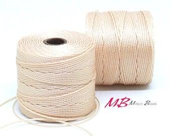 Natural S-Lon Macrame Cord 77 Yards, Nylon Beading Cord .5 mm