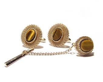 Choice: Vintage Swank Marble Cufflinks & Tie-tacks