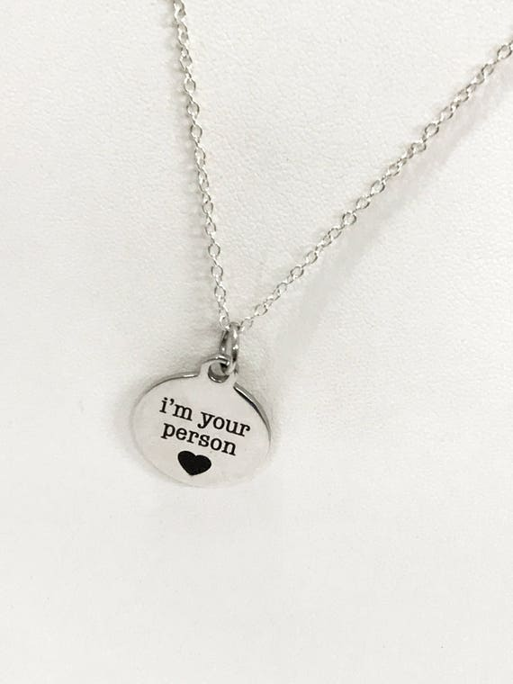 Your Person Necklace, I'm Your Person Necklace, Your Person Gift, Girlfriend Gift, Wife Gift, Valentines Day Gift, Wife Valentine