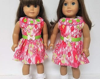 "Spring Dress with for any 18"" doll like the American Girl"