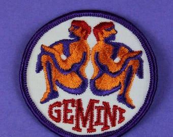 Gemini Zodiac Sign Vintage 1970s NOS Patch