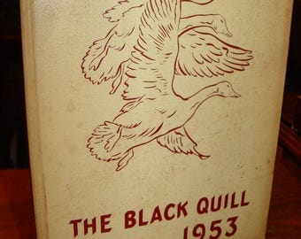 The Black Quill 1953 ~ Blackduck Minnesota Yearbook & Orig. Commencement program