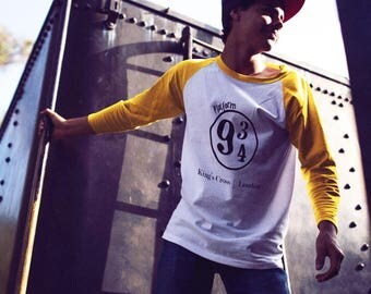 Platform 9 3/4 Kings Cross London -  T Shirt Tank Racerback - Mens - Womens - Unisex - Youth HP Inspired Potter