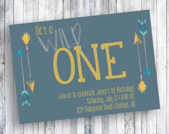 Wild One Invitation - 1st Birthday Invitation - Wild One 1st Birthday