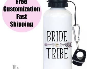 Bride Tribe Bridesmaid Gift, Bride Tribe water bottle, Bridal Party Gifts, Boho Bridesmaid Gift, Bridesmaid Water Bottles, Boho Wedding Gift