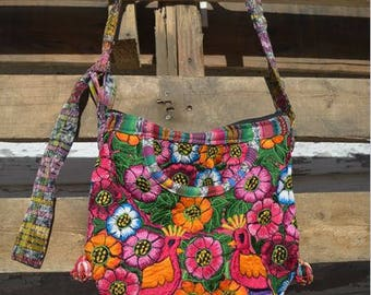 Pom Pom Tie Shoulder Bag GBP24/bag/purse/textile bag/pom pom bag/friend gift/cute bag/handmade purse