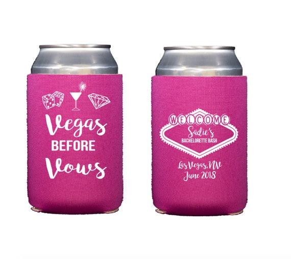 Vegas bachelorette can cooler, Las Vegas bachelorette party, Vegas bachelorette weekend hugger, bachelorette bash, bride tribe can cooler,