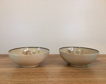 Vintage Denby England Stoneware Memories Cereal Bowls Coupe 1980s